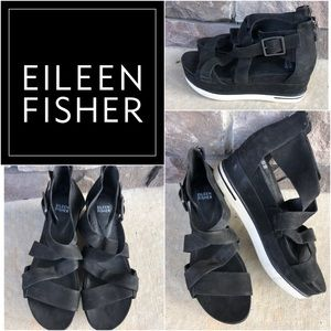 Eileen Fisher Leather Sneaker Sandals Rtl:$195